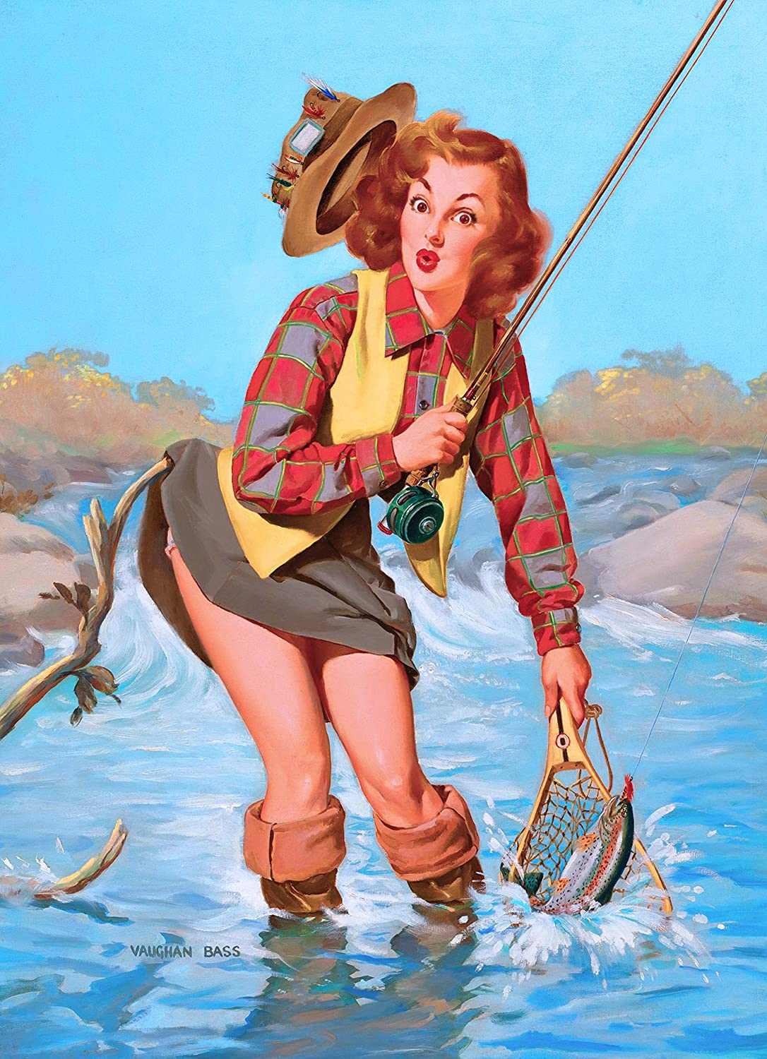 1940s Pin-Up Girl The Fox Hunt Picture Poster Print Art Pin Up