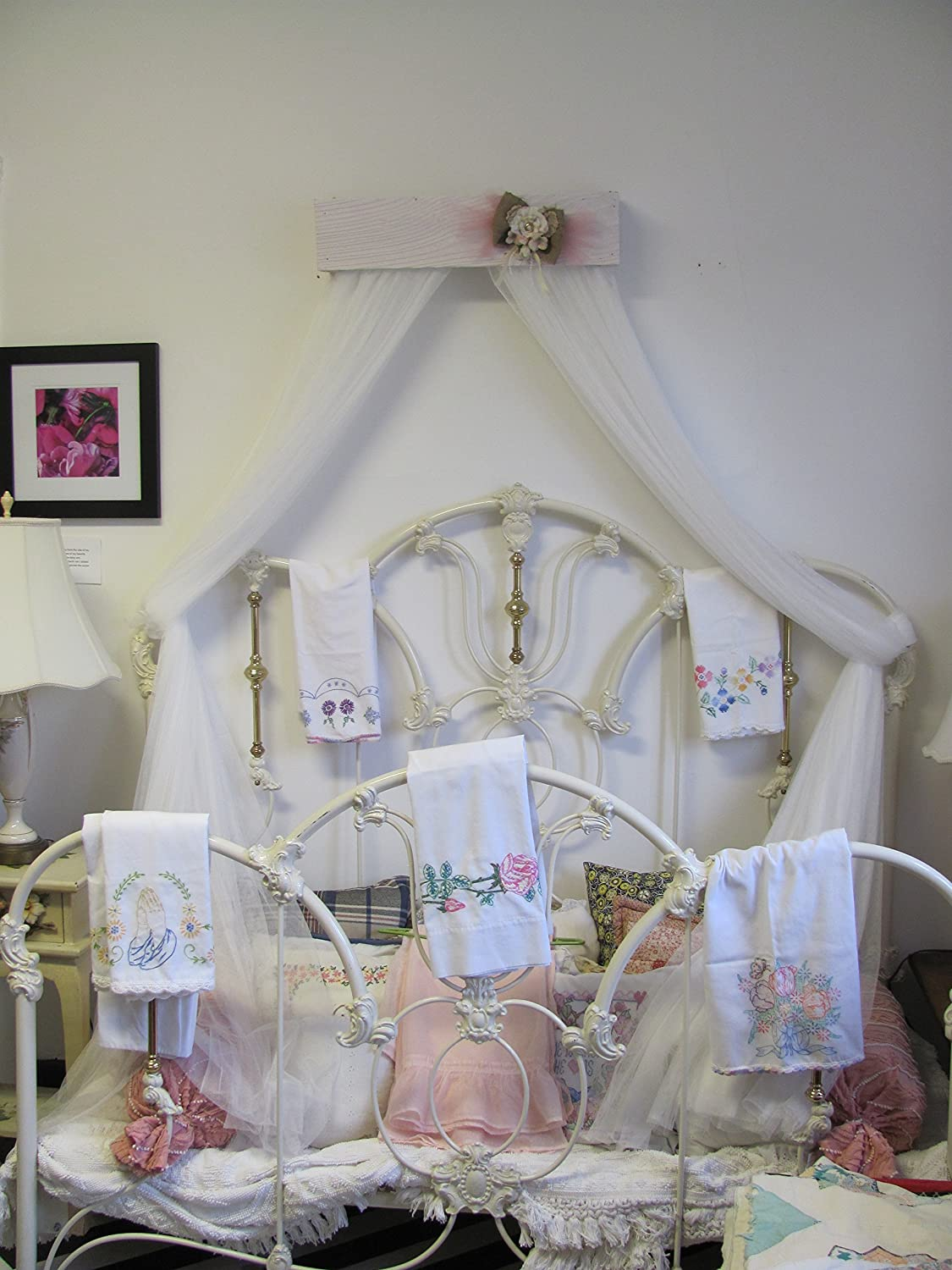 Amazon.com: Shabby Chic Princess Bed Crown Canopy Crib Baby ...