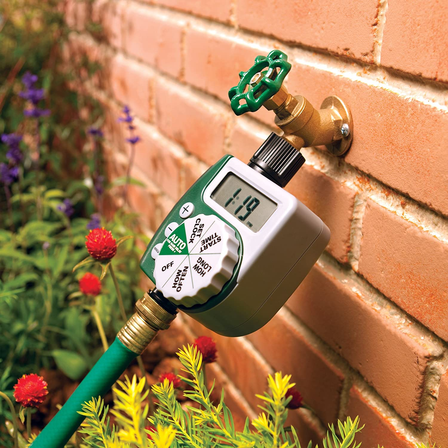 Superb Amazon.com : Orbit 62061Z Single Outlet Programmable Hose Faucet Timer,  1 Valve, Green : Hose Timer : Garden U0026 Outdoor