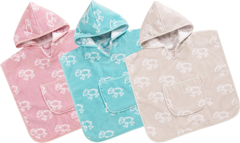 Vossen Baby /& Kleinkind Sweet Dreams Kapuzenponcho Light Azure one Size