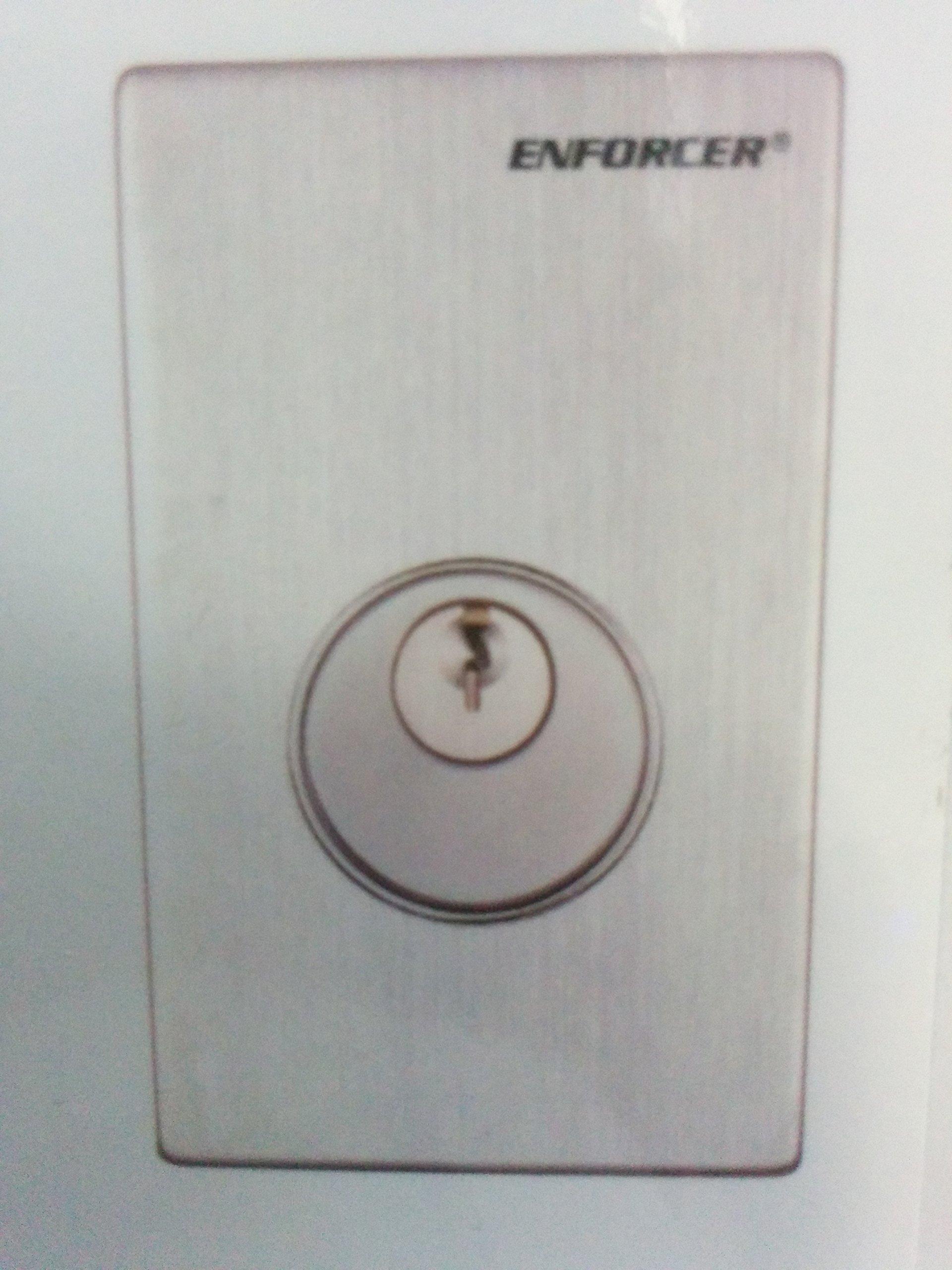 SD-72081-6MQ Seco-Larm Single-Gang Mortise Cylinder Key Switch