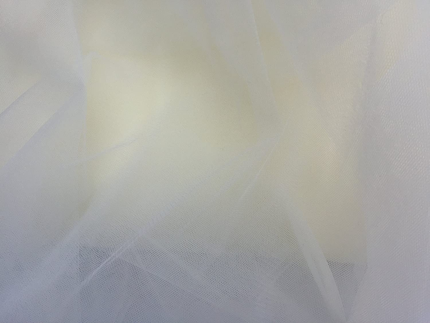 Ivory Off White bridal tulle veil fabric 300cm wide by the metre fine net