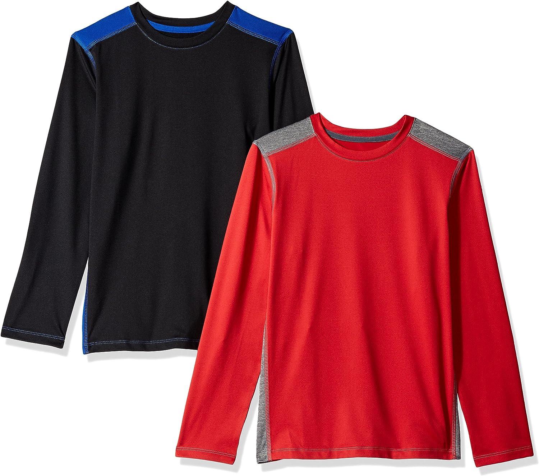 Amazon Essentials Boys Active Performance Long-Sleeve T-Shirts