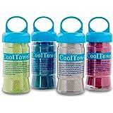BonBon Cooling Towel Chilling Pad Evaporative Sports Running Jogging Gym - 4pk
