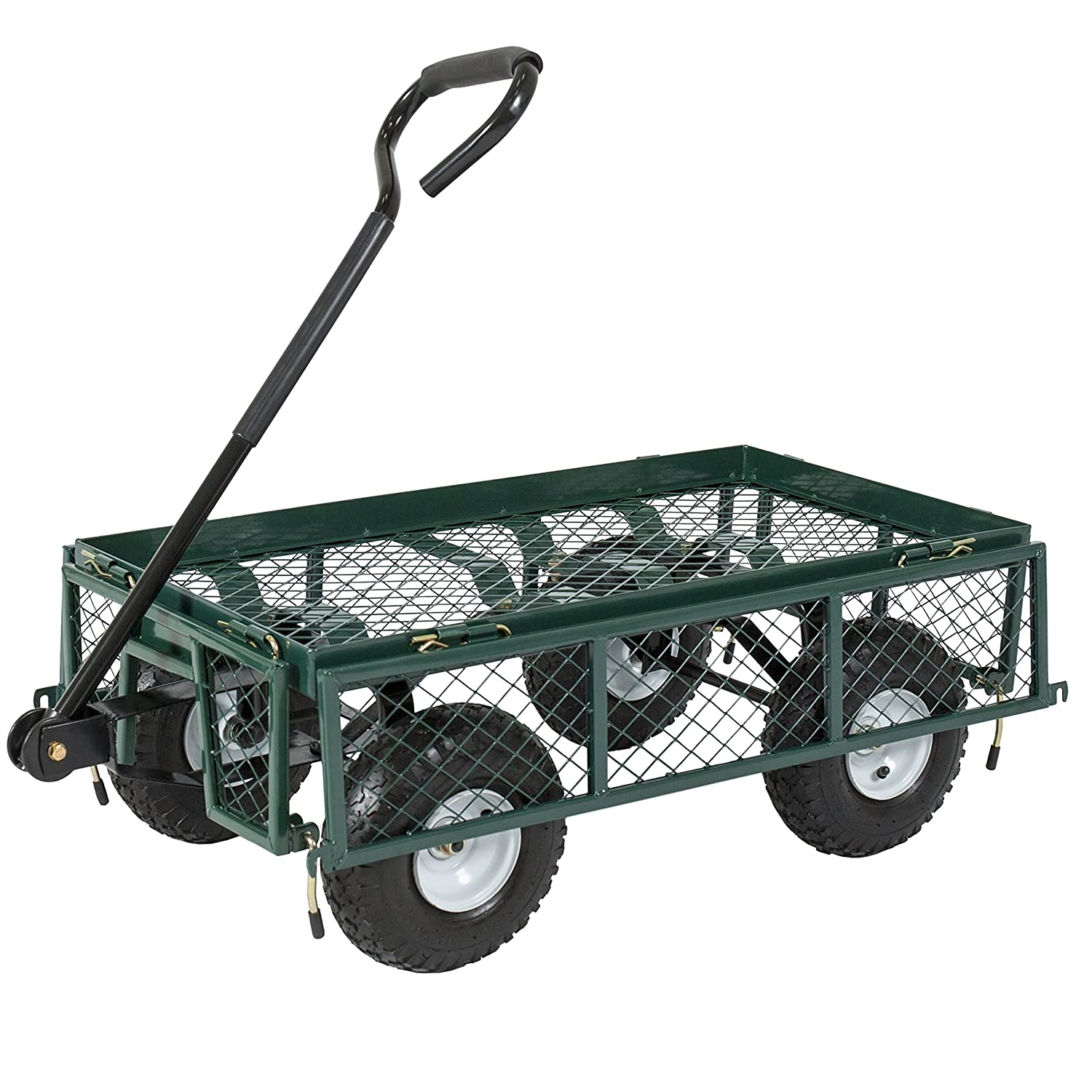 Amazon.com : Best Choice Products Utility Cart Wagon Lawn ...