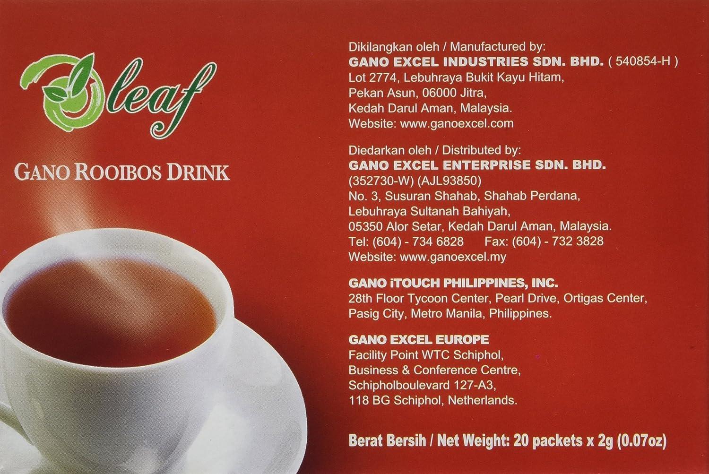 Amazon gano rooibos drink sod tea by gano excel usa inc amazon gano rooibos drink sod tea by gano excel usa inc 20 packets guano tea grocery gourmet food reheart Gallery