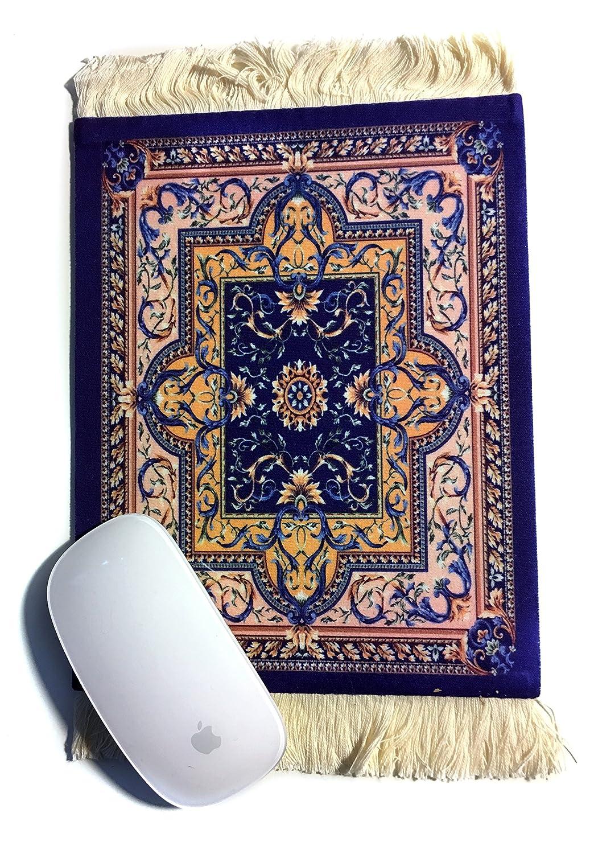 Mouse Pad - Tappetino tipo persiano per Mouse - Gadget per PC - Ottima idea regalo (Blu D) Fashion Home