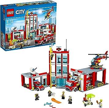 LEGO CITY - Estación de Bomberos, Juguete de Construcción, Incluye ...
