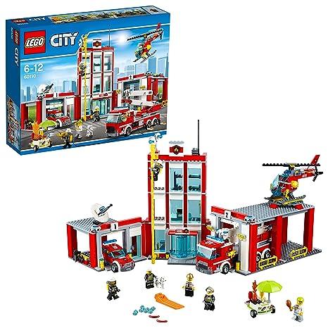60110 La Lego City Des Pompiers De Caserne Construction Jeu Yb7gfy6