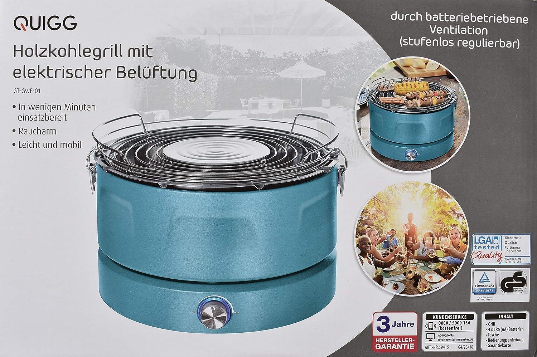 Activa Airbroil Junior Rauchfreier Holzkohlegrill Mit Aktivbelüftung : Quigg holzkohlegrill mit elektrischer belüftung campinggrill