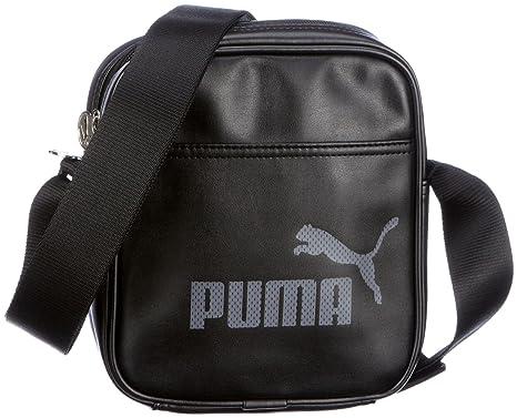 Puma Borsa A Tracolla Campus Portable, 17 x 20 x 5.5 cm, black-black ... 3caf69ad43
