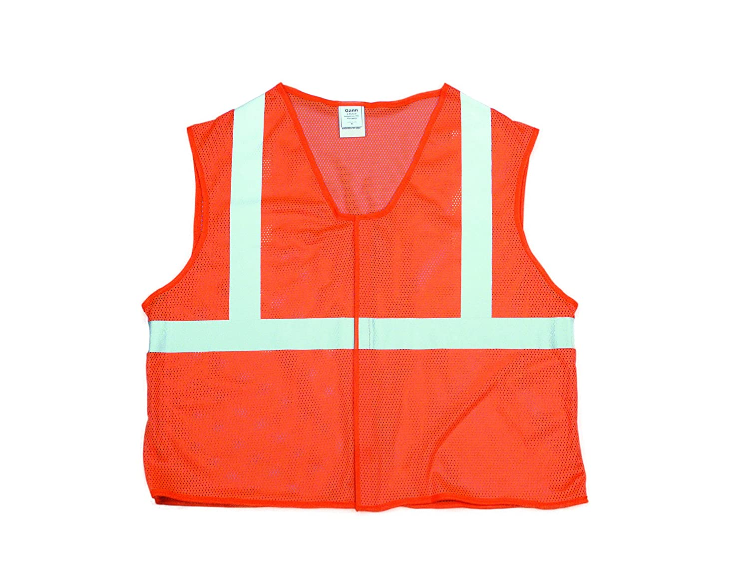 XX-Large Mutual Industries 16375-52X High Visibility ANSI Class 2 Mesh Safety Vest with 2 Silver Reflective Tape Orange Mutual inc.