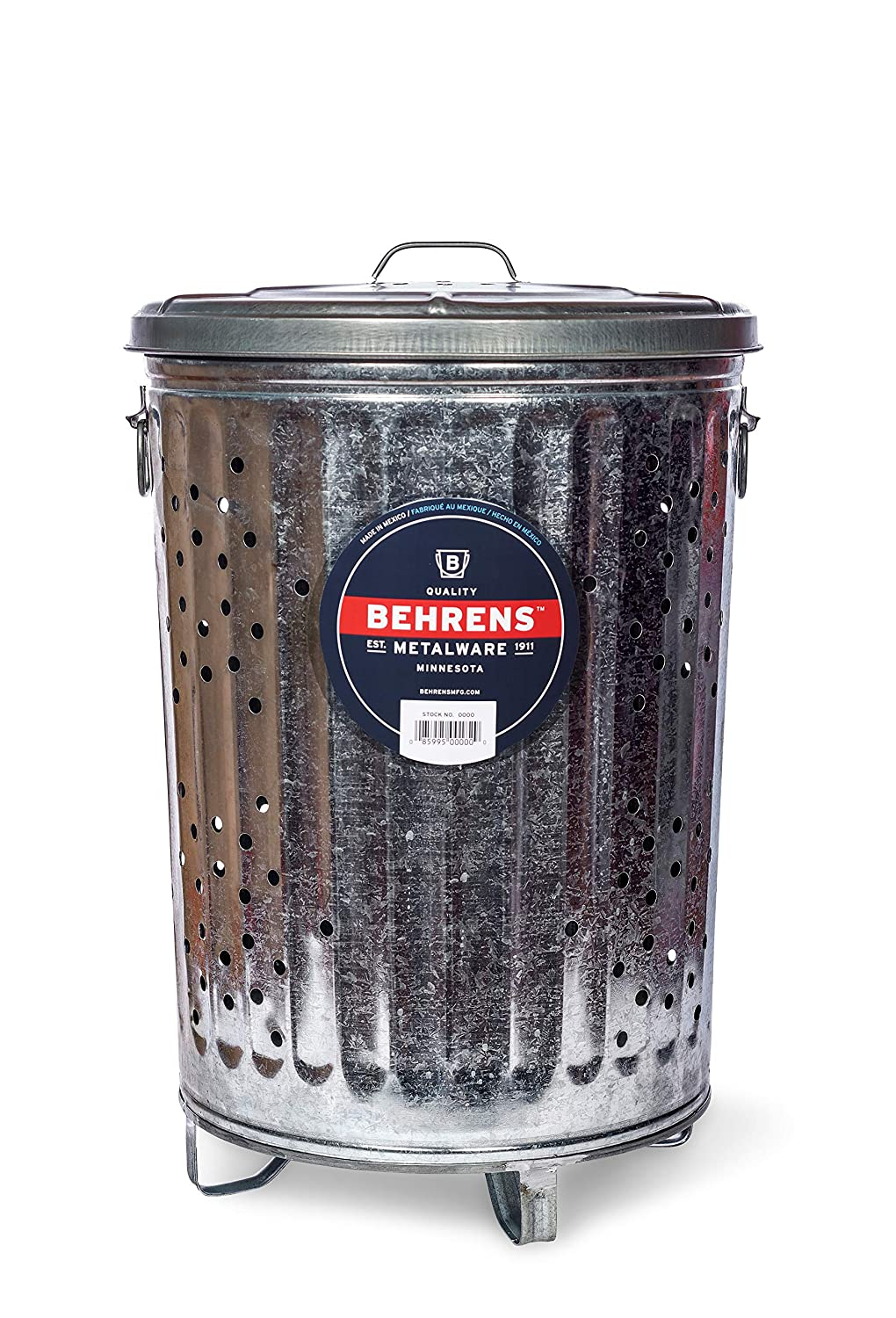Behrens Manufacturing RB20 Composter Trash Can, 20 gal