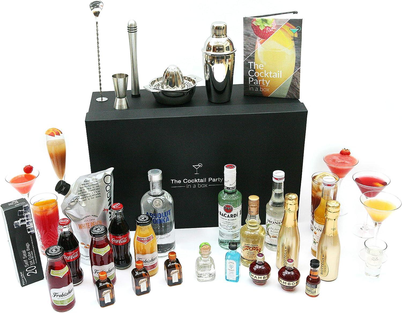 The Cocktail Party in a box - El kit completo de cócteles: ingredientes, equipos, libro de recetas