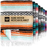 Handcrafted Mexican Blankets, Artisanal Handwoven Serape Blanket, Authentic Falsa Blanket, Great As Beach Blanket, Camping Bl