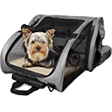Furhaven Pet Backpack-Roller Carrier for Dogs and Cats, Gray