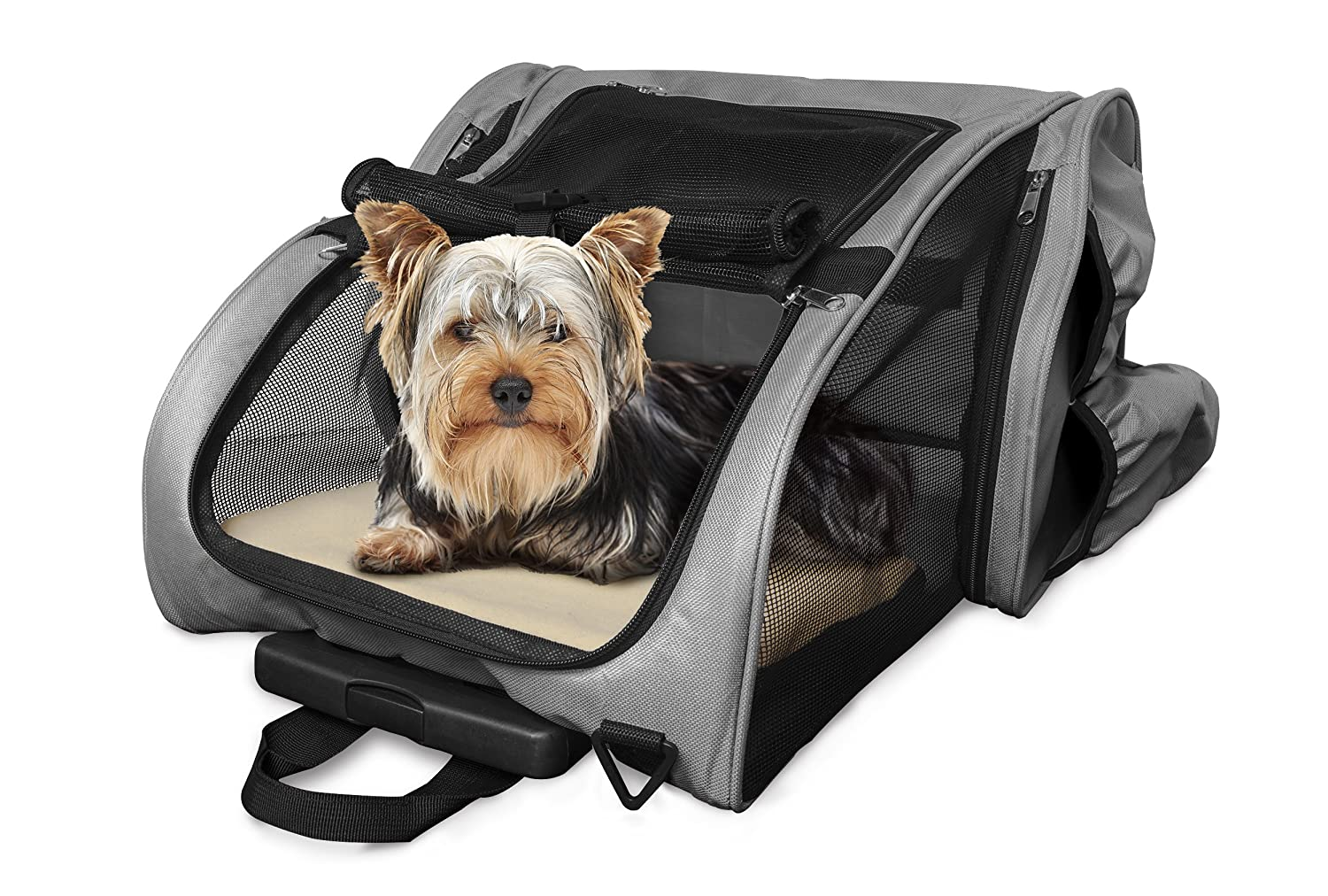 Furhaven Pet Products Backpack-Roller Carrier, Black, One Size 89243430.05