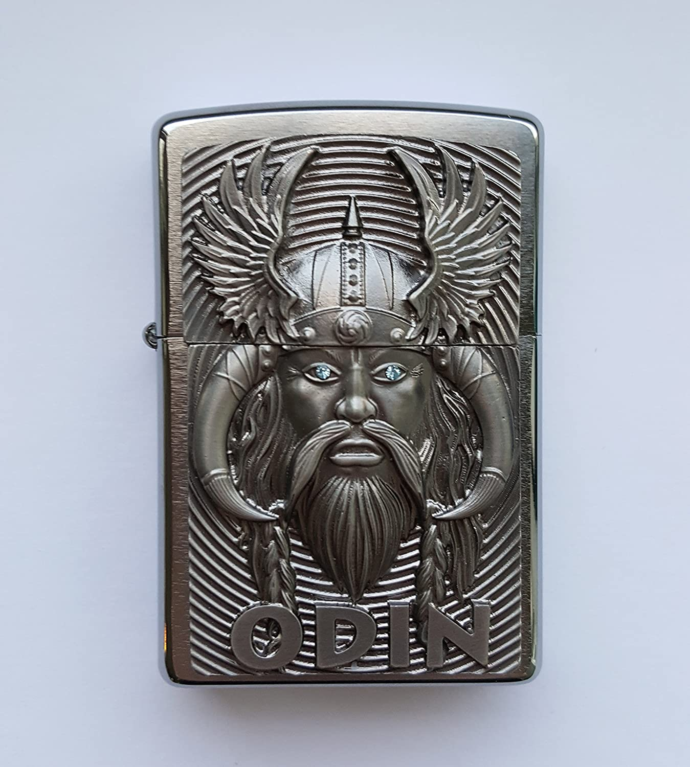 Zippo 2.005.286 Odin With Blue Eyes - Limited Edition 0001/1000 - Chrome brushed