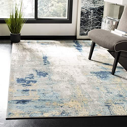 Safavieh JSP101A-4 Jasper Collection JSP101A Grey and Gold Area 4 x 6 Rug