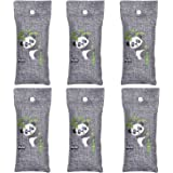 MySit Shoe Odor Eliminator Air Purifying Bags, Portable Shoe Deodorizer Bamboo Charcoal Bag Absorber, Charcoal Air Freshener Absorb Odors in Laundry Gym Bags,Backpacks lockers Luggage(100g, 6 Pack)