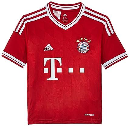 adidas Kinder kurzärmliges Trikot FC Bayern Home Jersey Youth