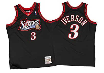 b9c9eb0b90c Image Unavailable. Image not available for. Color  Mitchell and Ness  AUTHENTIC Allen Iverson 1997-98 Jersey Philadelphia 76ers ...