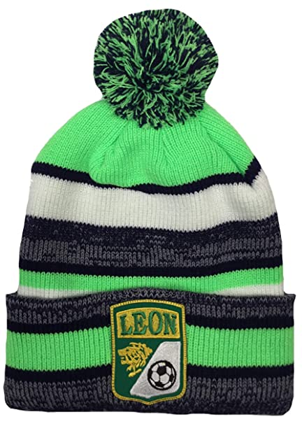 Mexico Leon Soccer Beanie POM POM HAT Black Green White at Amazon ... af8410141