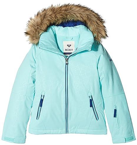 Roxy ERGTJ03039 - Chaqueta de esquí para niña, color Azul (Aruba Blue),