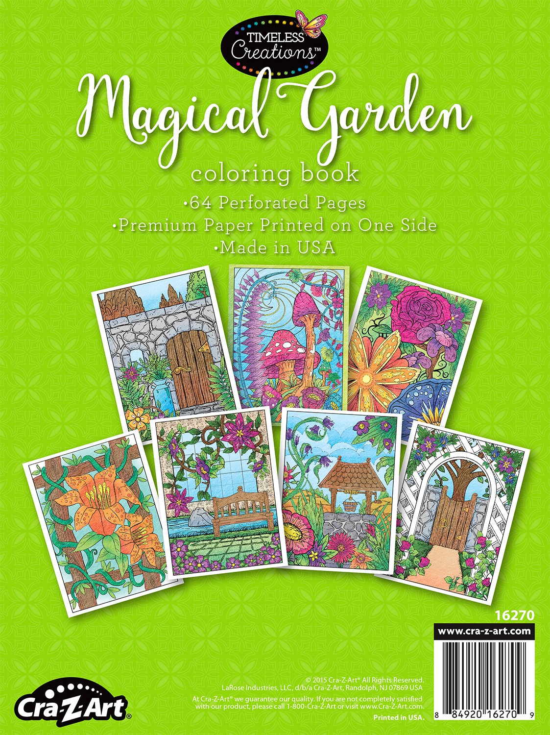 Amazon.com : Cra-Z-Art Timeless Creations Adult Coloring Books ...