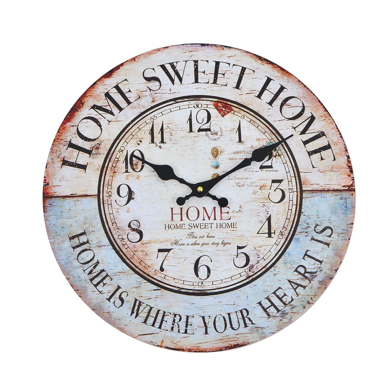 Reloj vintage de cocina de madera silenciosohttps://amzn.to/2zXBsjQ