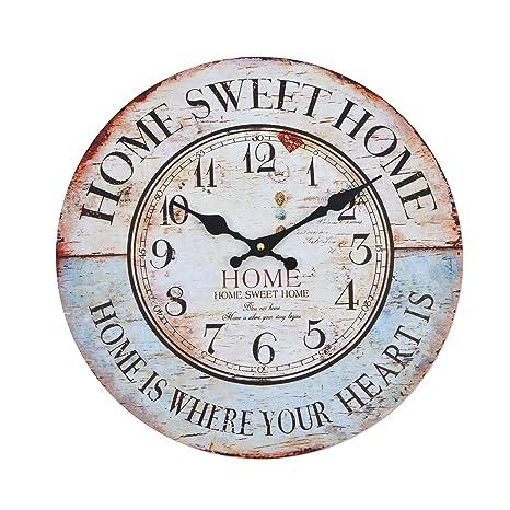 Orologio da muro - Home sweet Home - Silenzioso orologio da cucina ...