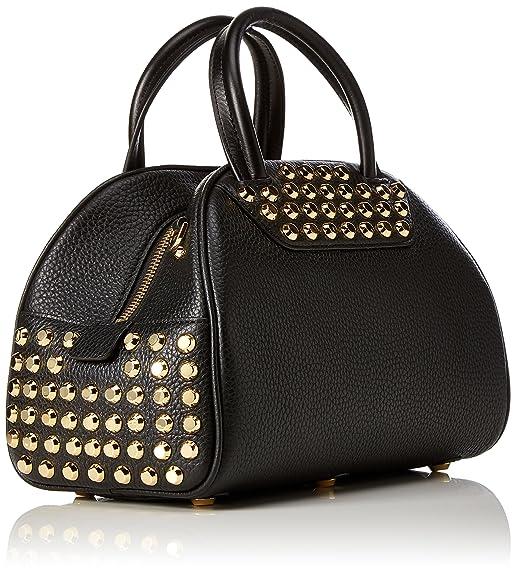 Austin Leather Bowling, Womens Bowling Bag, Schwarz (Black), 15x17.5x27 cm (B x H T) Michael Kors