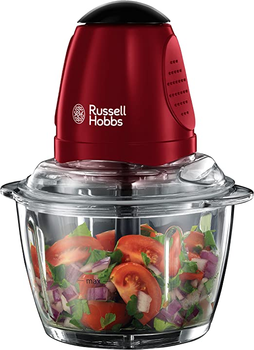 Russell Hobbs Desire Picadora, 380 W, Vidrio, Rojo: Amazon.es: Hogar