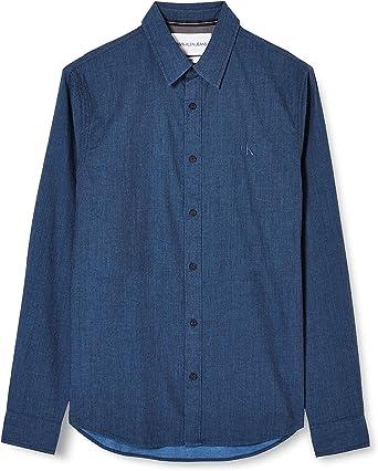 Calvin Klein Brushed Twill Slim Non Stretch Camisa para Hombre: Amazon.es: Ropa y accesorios