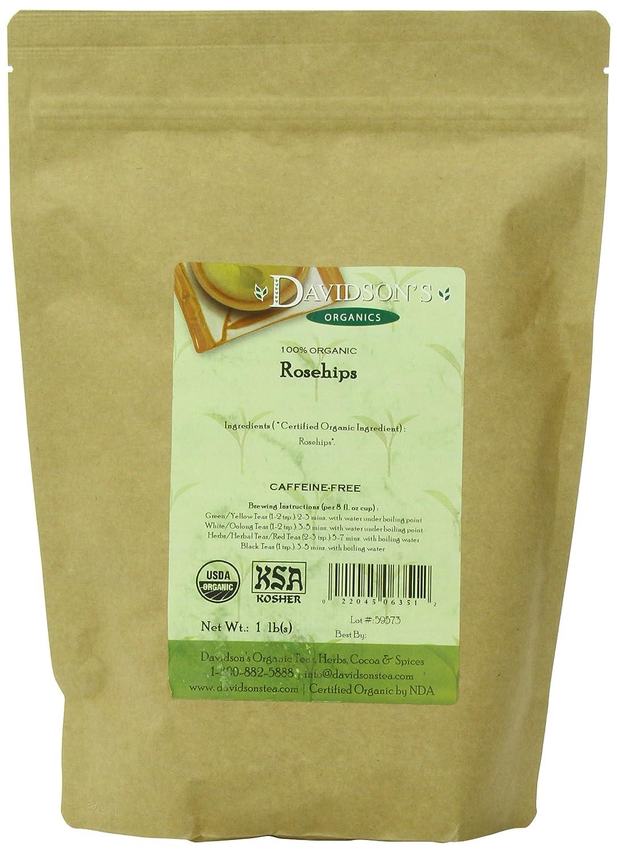 Bulk organic tea - Amazon Com Davidson S Tea Bulk Organic Rosehips 16 Ounce Bag Herbal Teas Grocery Gourmet Food