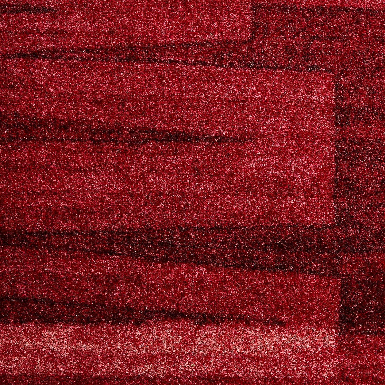 Casa pura Läufer mit Pinselstrich Muster   Rot Rot Rot   Qualitätsprodukt aus Deutschland   GUT Siegel   kombinierbar mit Stufenmatten   3 Breiten und 18 Längen (100 x 250 cm) B016OHELR0 Lufer eb93ee