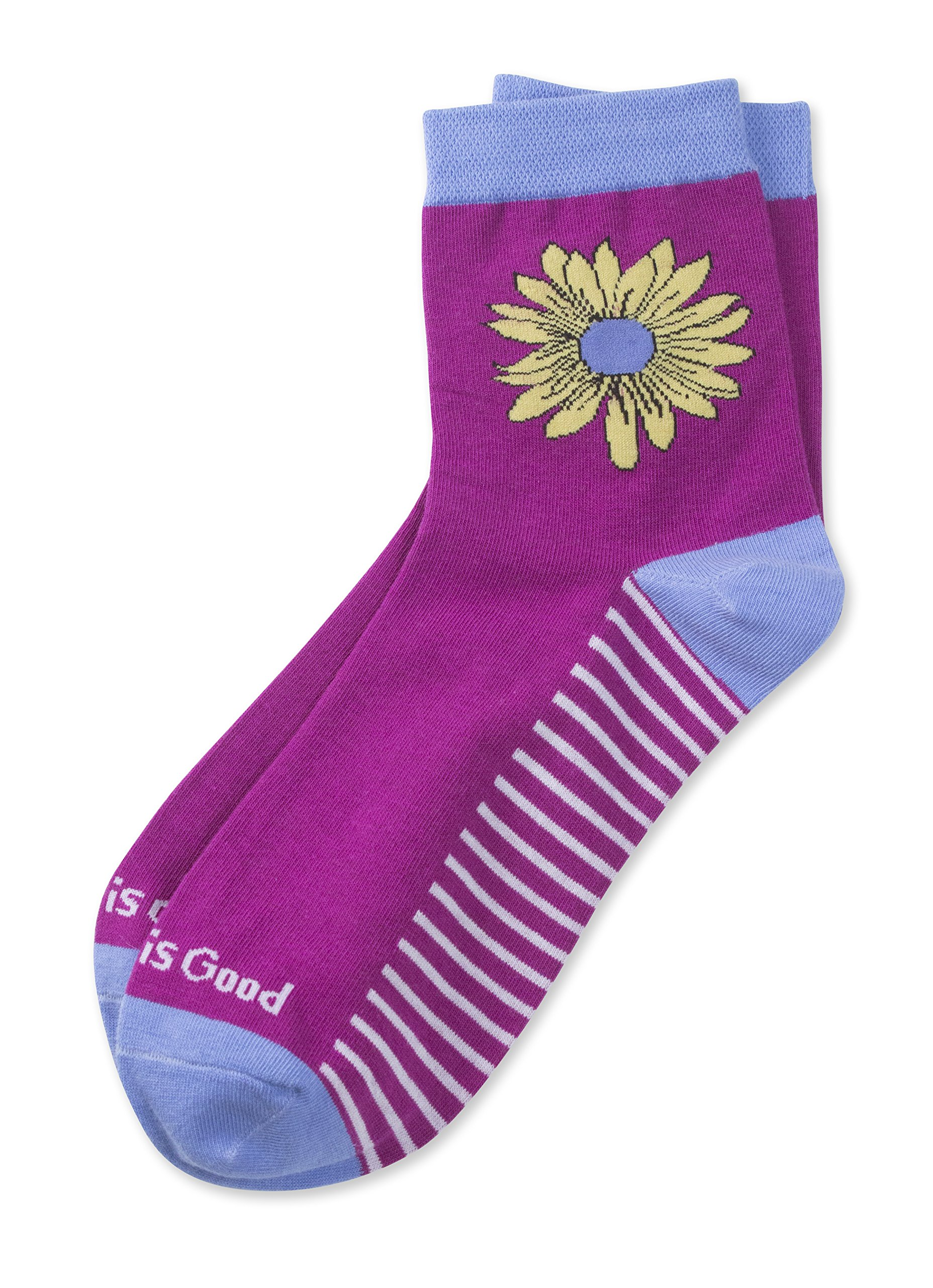 Life is Good Women's Anklet Socks, Mom Purple, One Size