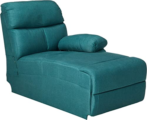 Christopher Knight Home Susana Comfort Modern Fabric Chaise Dark Teal