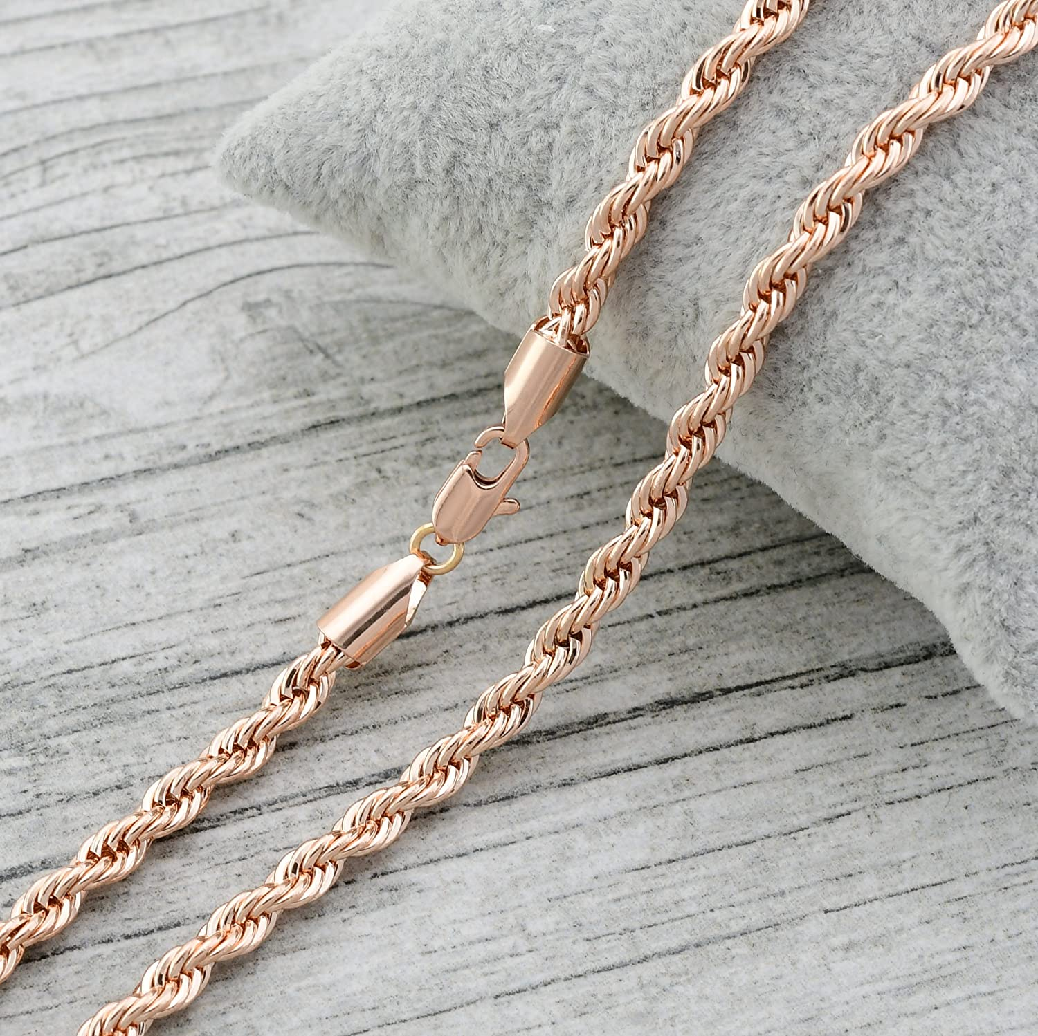 Rose Gold Plated Chain Necklace Cord by Olivia Star Jewelry 55902