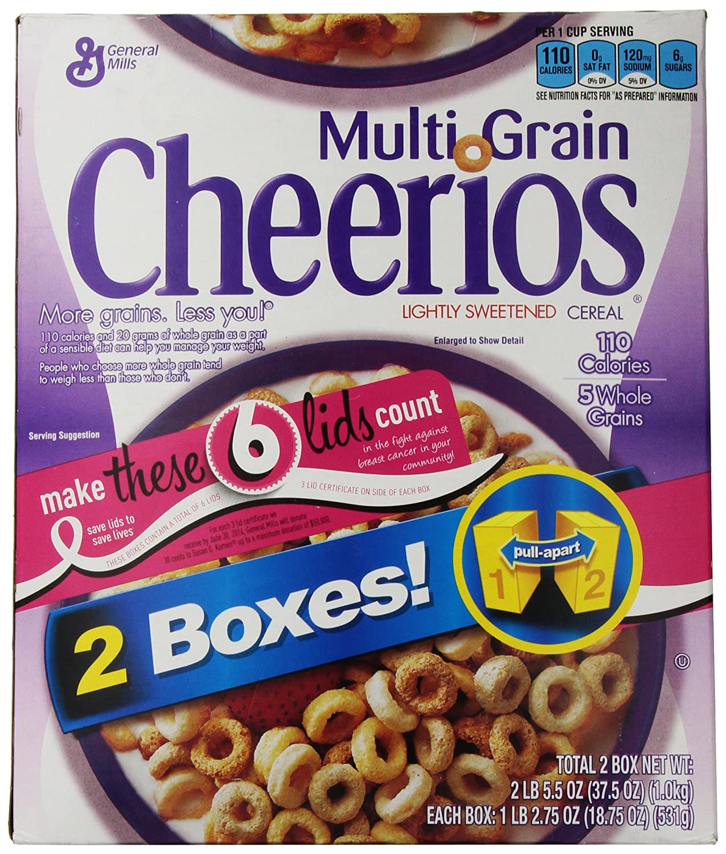 Multigrain Cheerios 1875 Oz Boxes 2 Pk Breakfast Froot Loops 300g Free Foot Ball Bowl P Cereals