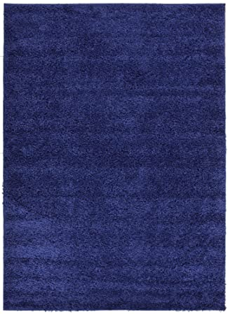 Good Solid Color Navy Blue Shag Area Rug Rugs Shaggy Collection (Navy Blue, 3u0027