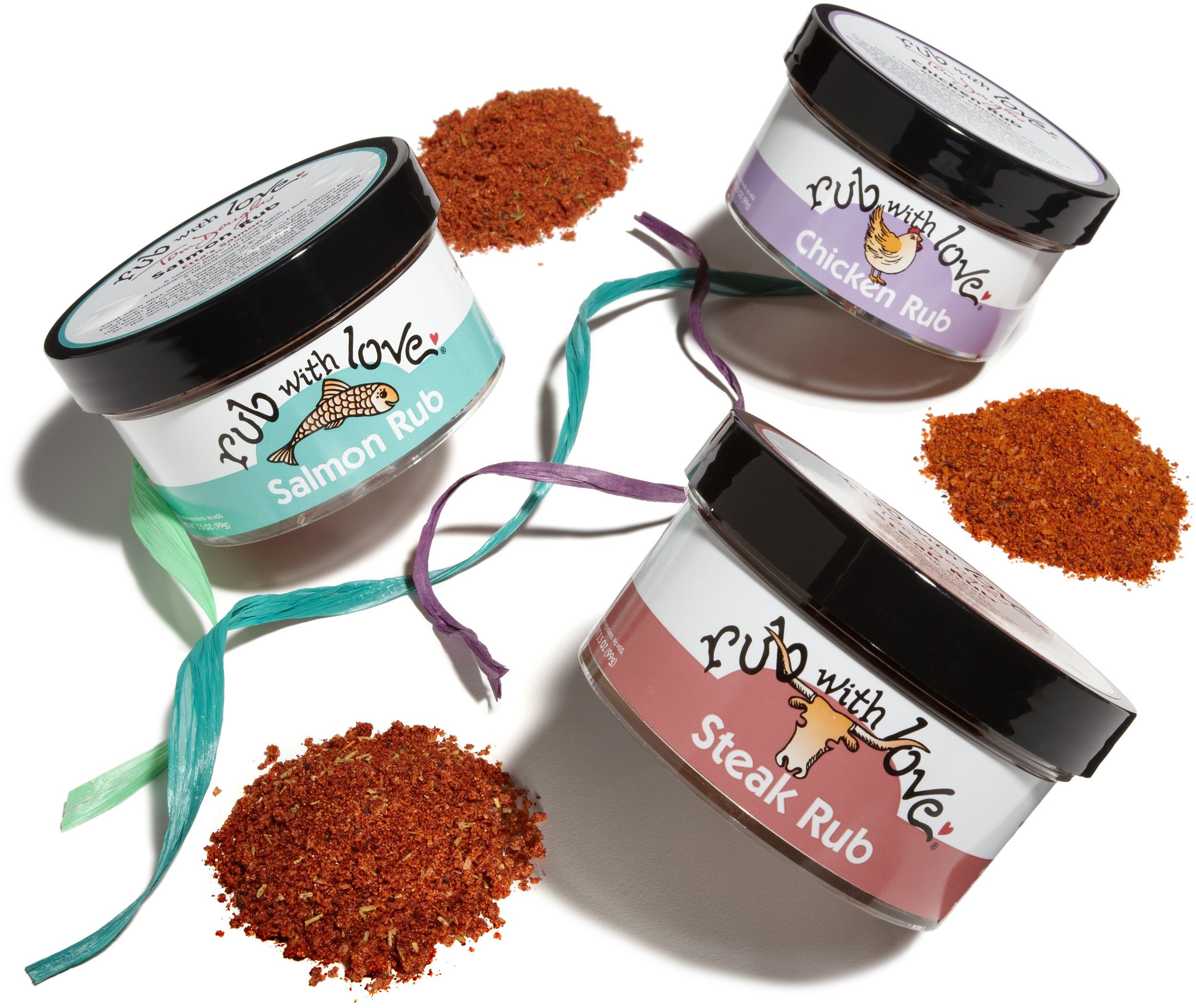 Rub with Love Set of Three Gift Pack by Tom Douglas, 3.5 Ounce each by Rub With Love
