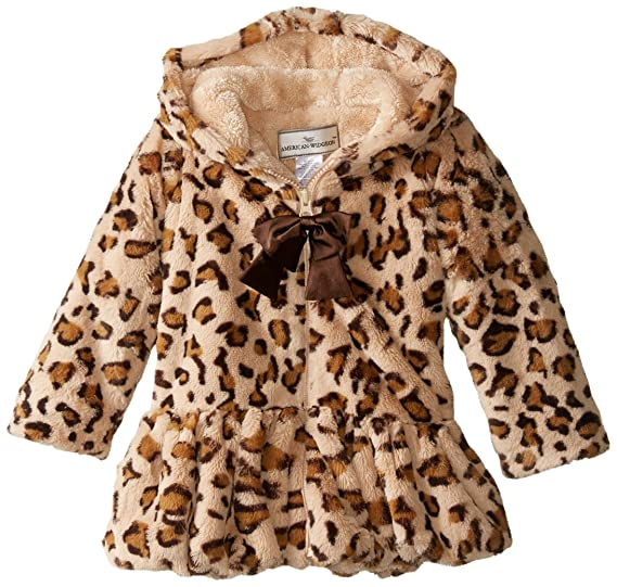 Widgeon Little Girls Faux Wool Classic Coat