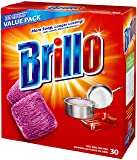 Brillo Steel Wool Soap Pads 794628302188 Original Scent (Red), 30-Count Jumbo Pack