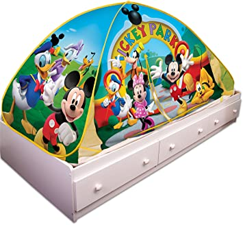 Playhut Mickey Mouse Club House Bed Tent Playhouse  sc 1 st  Amazon.com : mickey mouse clubhouse pop up tent - memphite.com