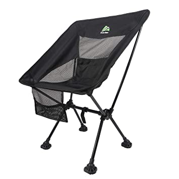 Berserker Outdoor Lightweight Folding Camping Chair Portable Backpack Chair With All Terrain Large Feet Heavy Duty 300lbs Capacity Camp Chair For