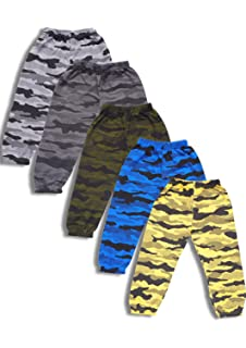 e3770cd50 T2F Boys' Printed Track Pant (Pack of 5, Multicolour): Amazon.in ...