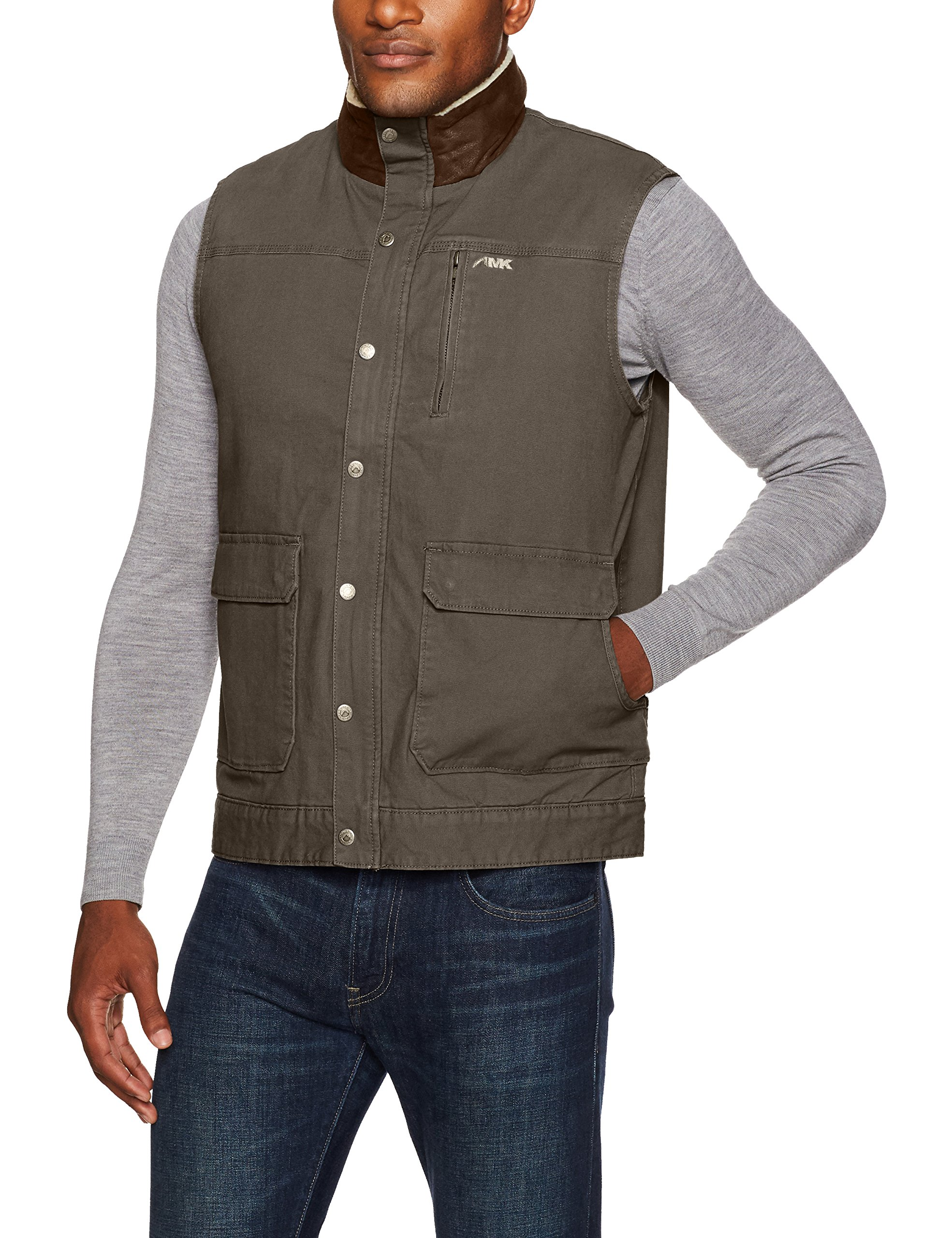Mountain Khakis Men's Ranch Shearling Vest, Slate, XX-Large by Mountain Khakis