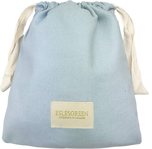 ESLESGREEN Bolsa algodón orgánico para mudas - Bolsa para merienda - Bolsa Primera Puesta - Bolsa Infantil para guardería (Blue): Amazon.es: Hogar