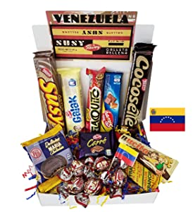 Venezuelan Sweet Snacks Gift Box – International Snack and Candy –Great Assortment of Foreign Treats, Wafer Cookies, Chocolates, Cocosette, Susy, Toronto, Nucita, Galak, Bocadillos, & more. (14 Count)